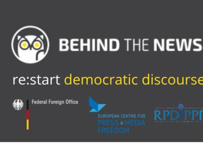 re:start democratic discourse – проект з підвищення медіаграмотності
